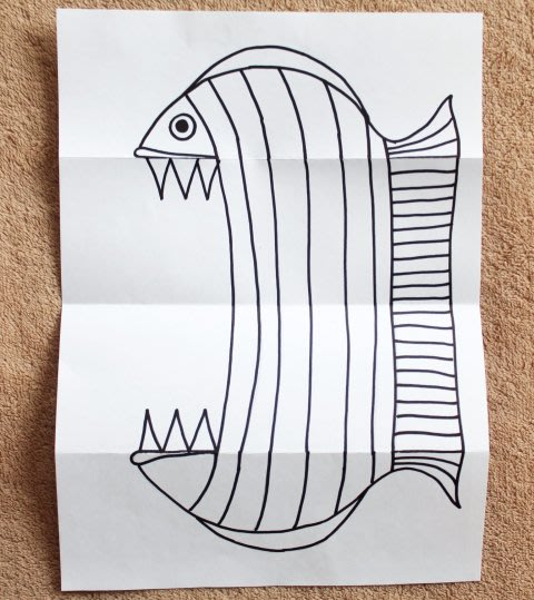 Activity picture for How to make a toothy paper fish in Wachanga