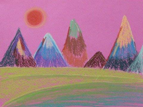 Картинка к занятию Нарисуйте горы с помощью пастели в Wachanga