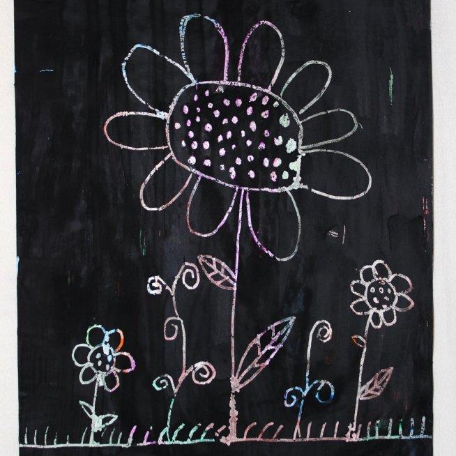 """Draw a picture in """"grattage"""" technique!"""