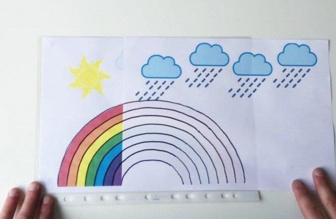 Фокус с радугой