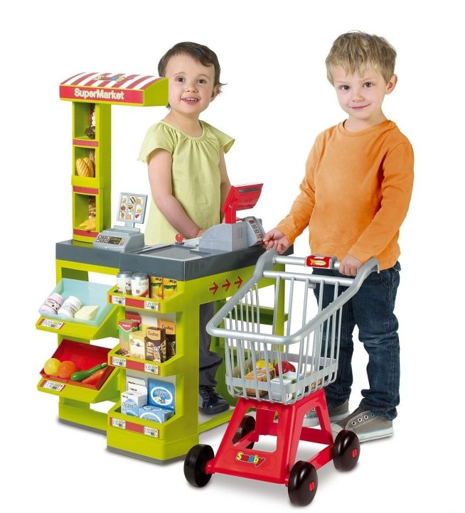 Play a shopping roleplay game with your kid