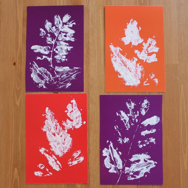 Make leaf imprints