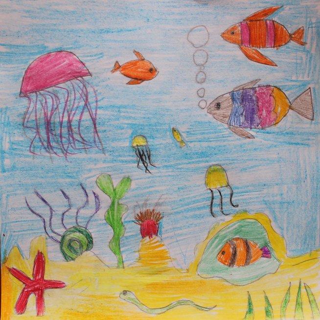 Порисуйте цветными карандашами