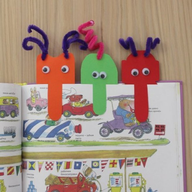 """Make """"Funny Alien"""" Bookmarks With Your Kid"""