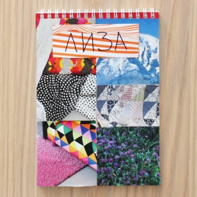 Decorate a notebook cover