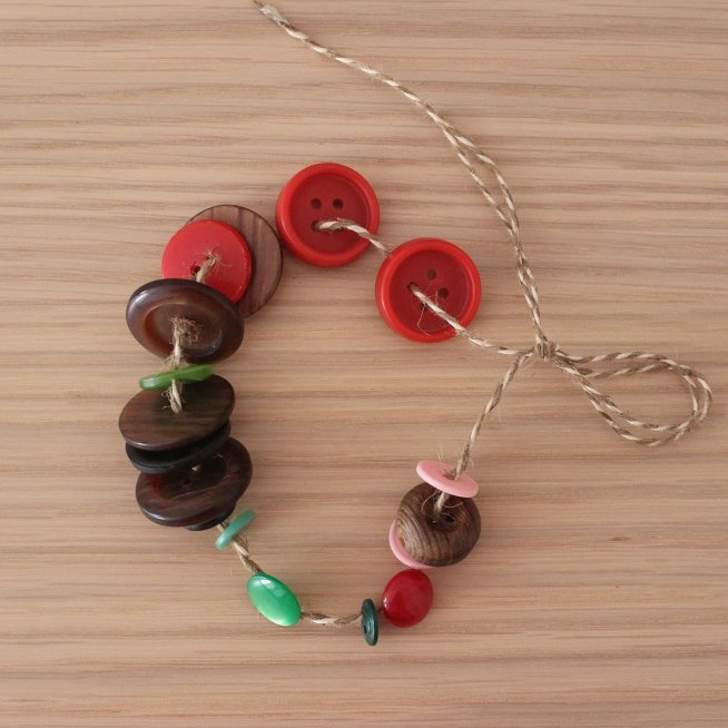 Make a bracelet out of buttons