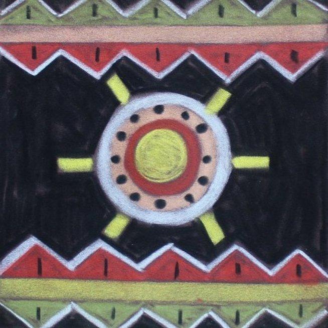 Нарисуйте африканские узоры