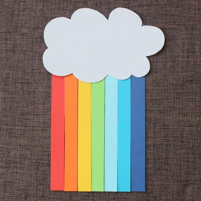 Радуга из цветной бумаги