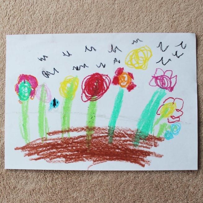 Help your kid draw flowers