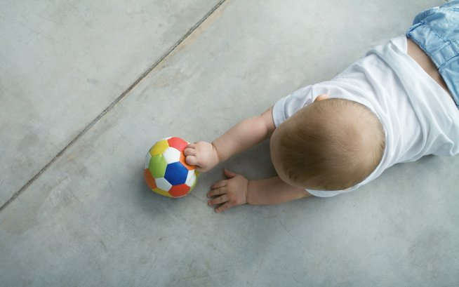 Offer your baby to view a ball