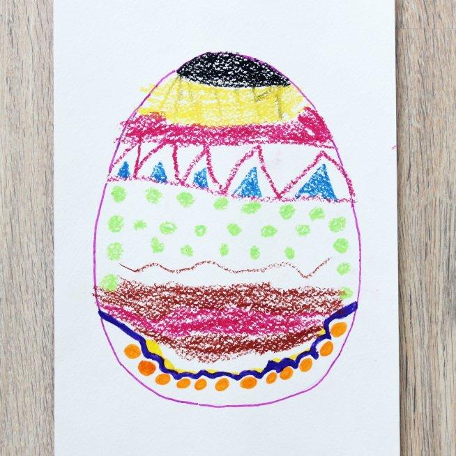 Нарисуйте вместе с малышом пасхальную открытку