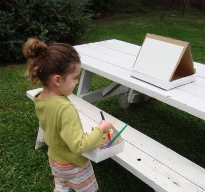 Painting with natural materials