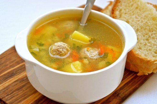 Суп из филе индейки с клецками