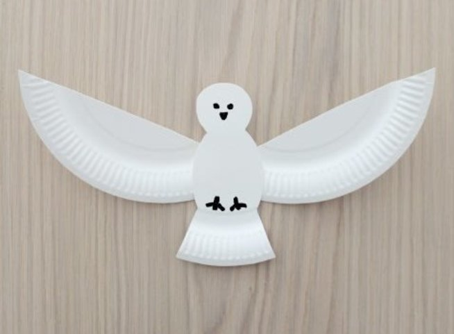 Adorable Dove made out of a disposable plate