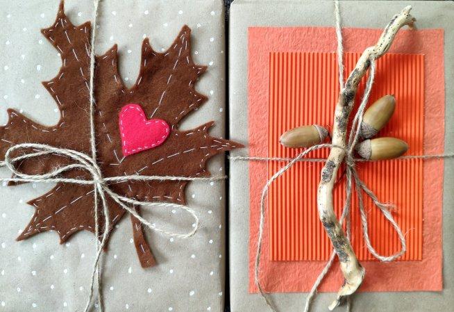 Осенняя упаковка для подарков
