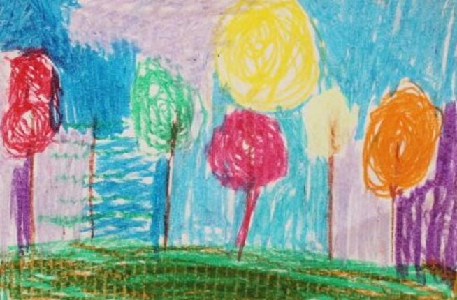 Draw an autumn forest with your kid