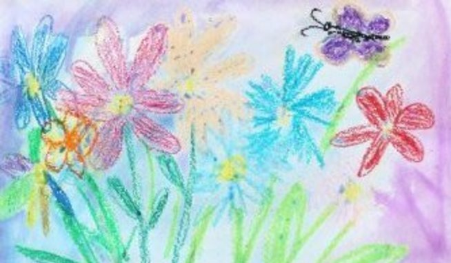 Нарисуйте вазу с цветами