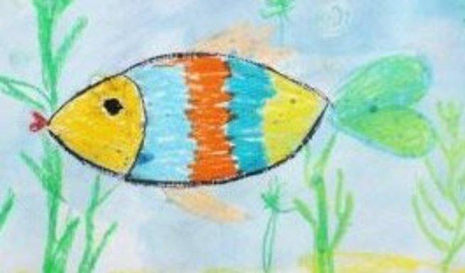 Нарисуйте коралловых рыбок