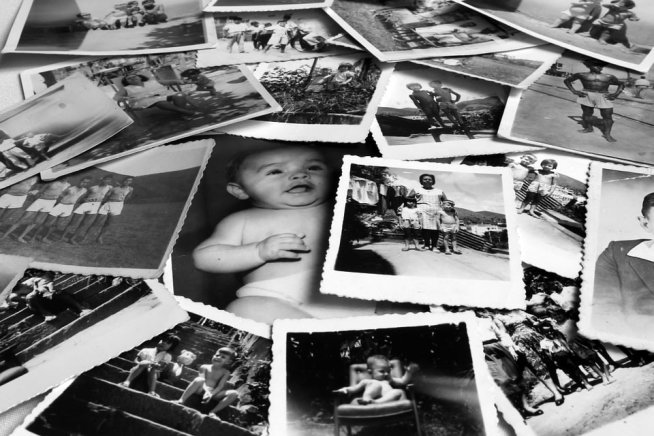 Посмотрите с детьми старые фотоальбомы