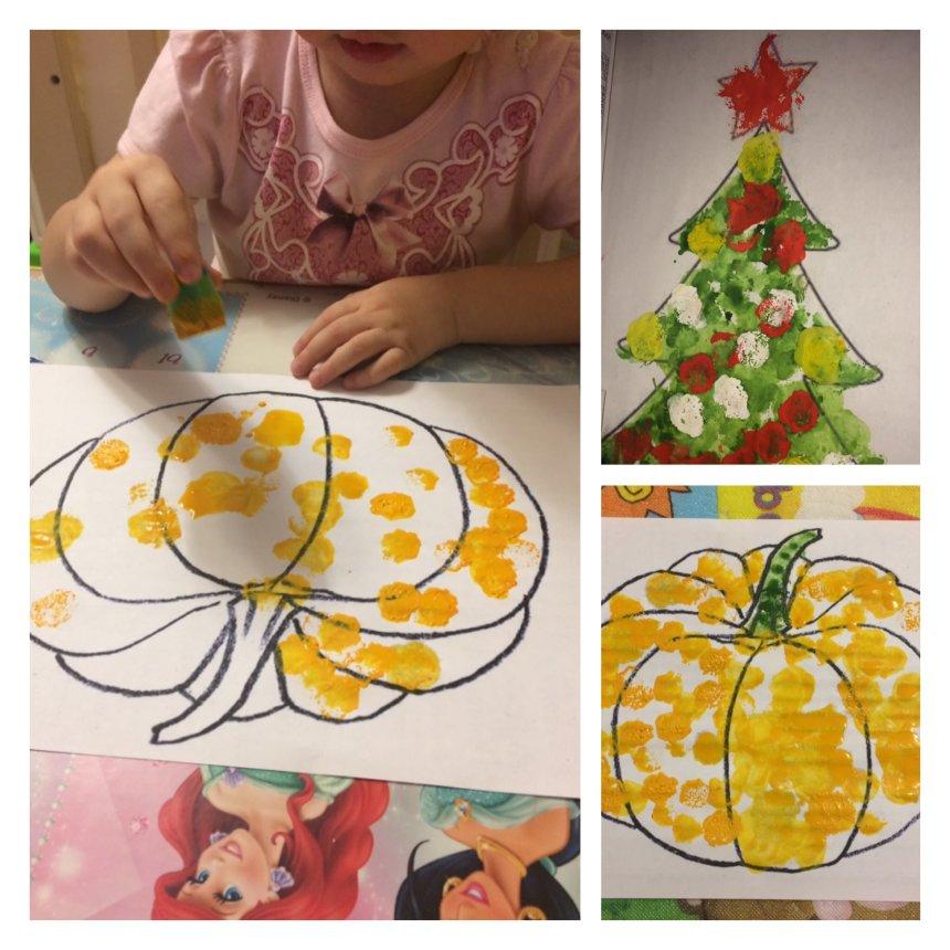 Отчёт по занятию Нарисуйте вместе с ребенком тыкву с помощью штампа для Хэллоуина в Wachanga!