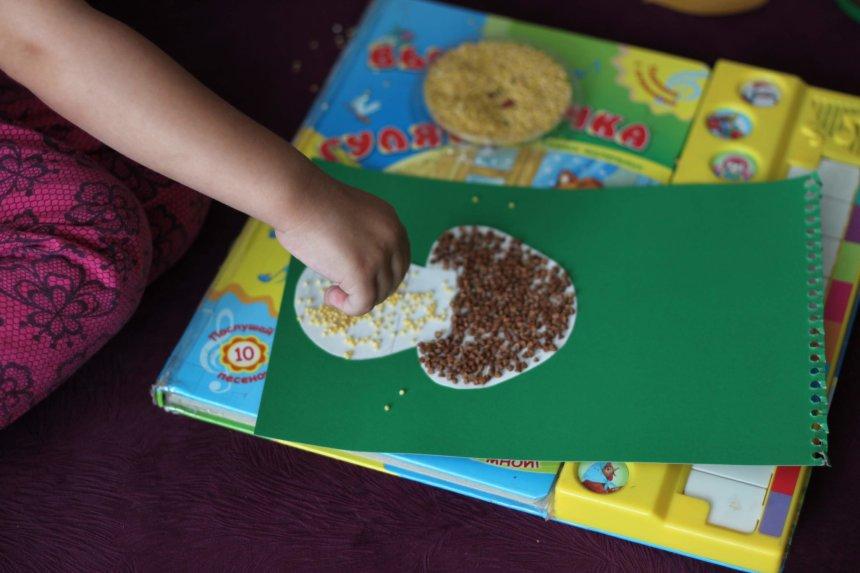 """Отчёт по занятию Сделайте вместе с ребенком аппликацию из крупы """"Грибочек""""  в Wachanga!"""