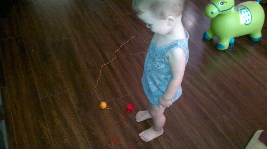 Отчёт по занятию Предложите малышу поиграть с клубками в Wachanga!