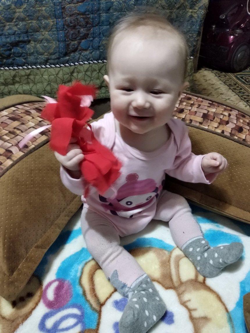 Отчёт по занятию Смастерите для малыша матерчатый помпон в Wachanga!