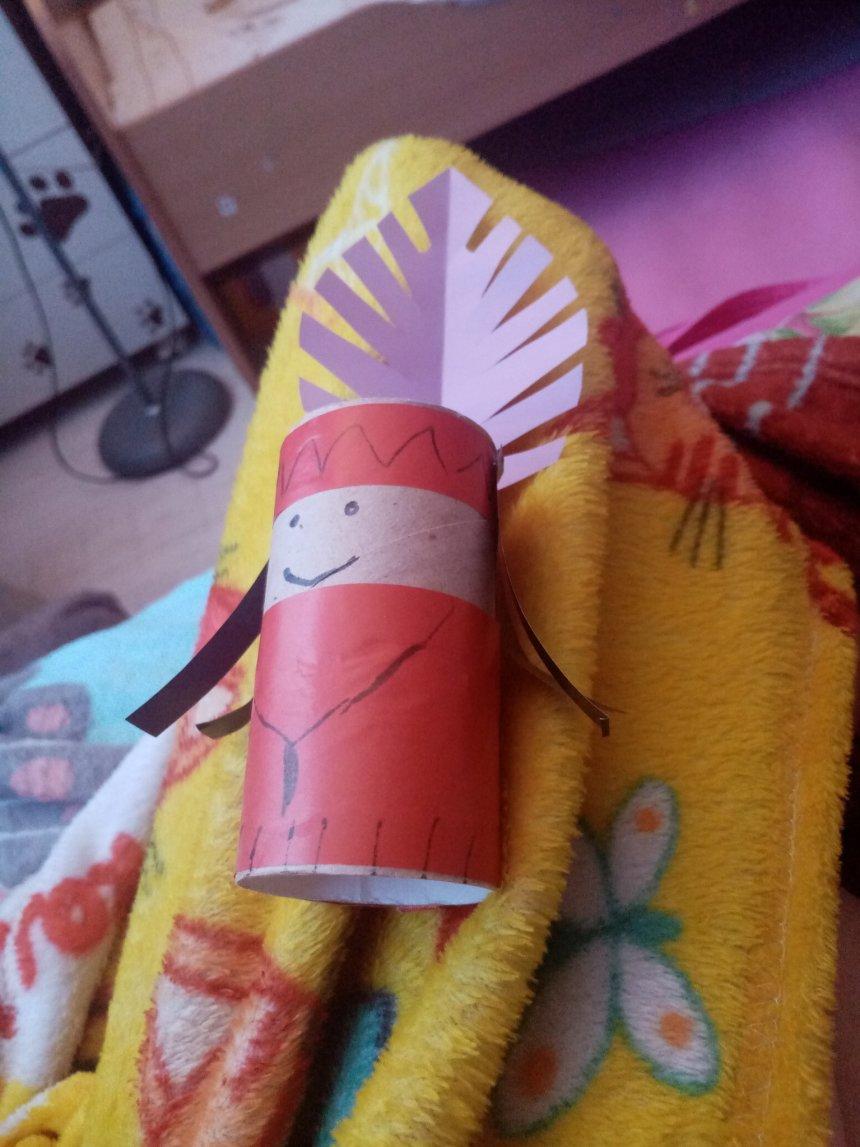 Отчёт по занятию Сделайте вместе с ребенком индейцев из бумаги в Wachanga!