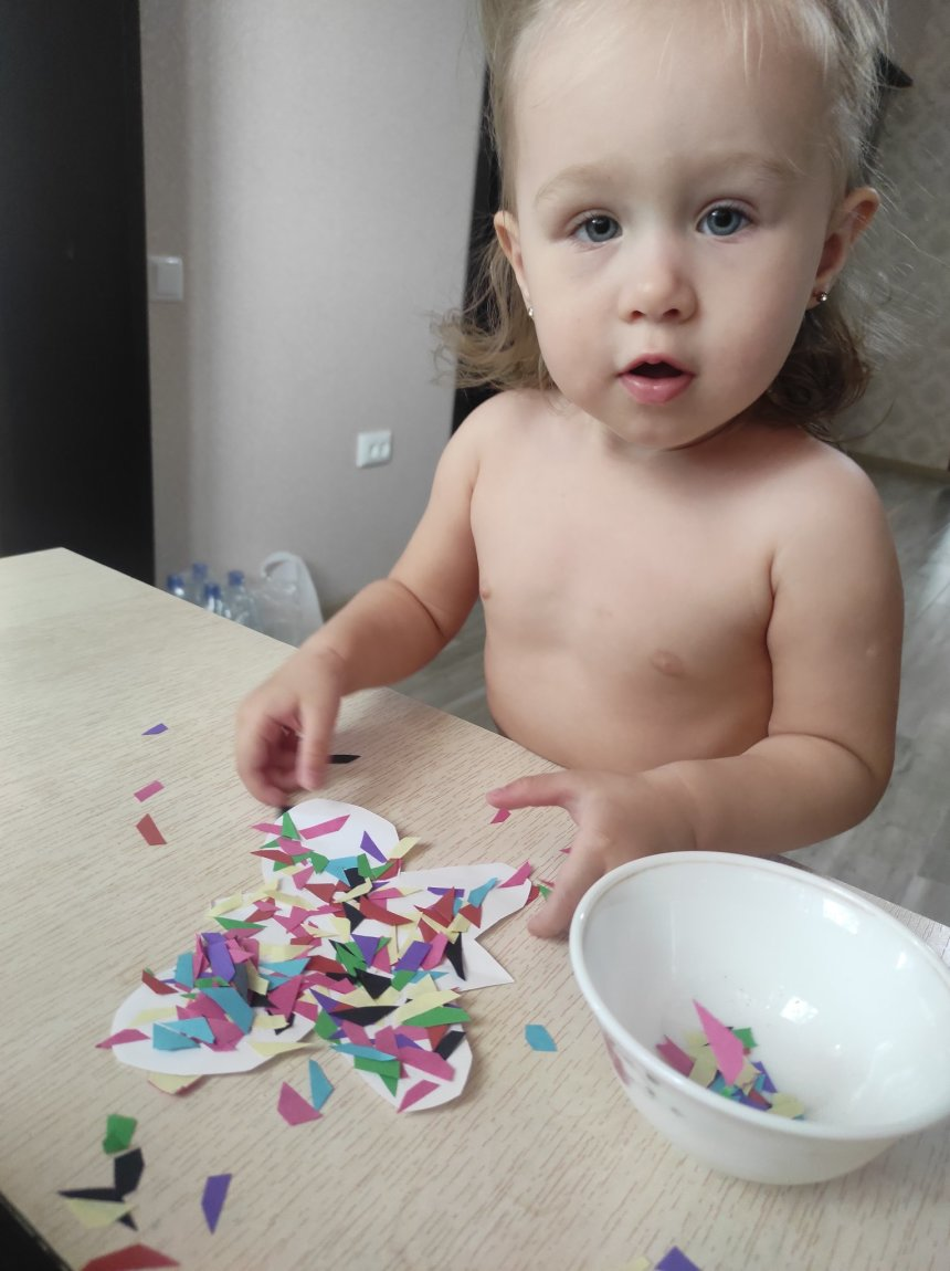 Отчёт по занятию Разноцветные бабочки из бумаги в Wachanga!