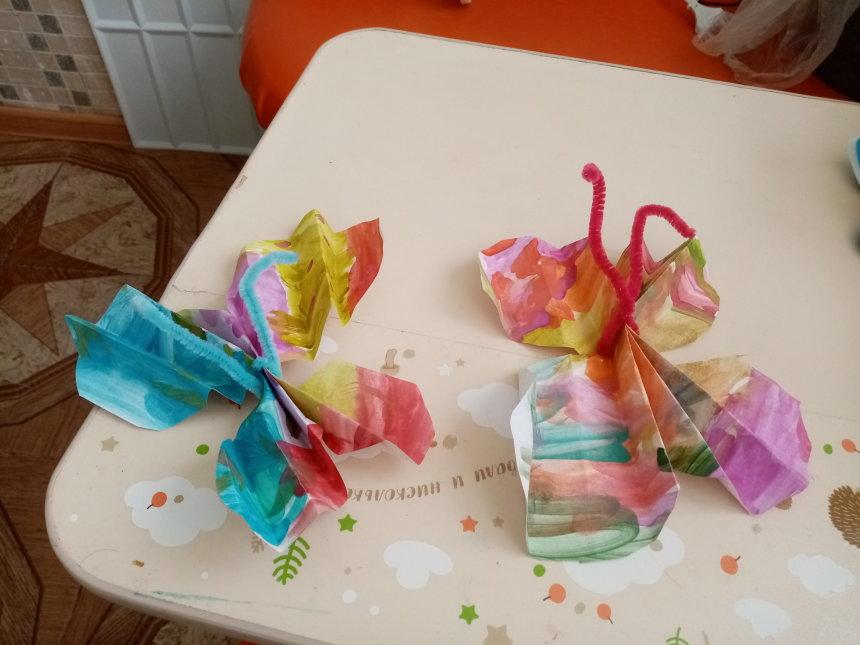 Отчёт по занятию Бабочки из бумаги в Wachanga!