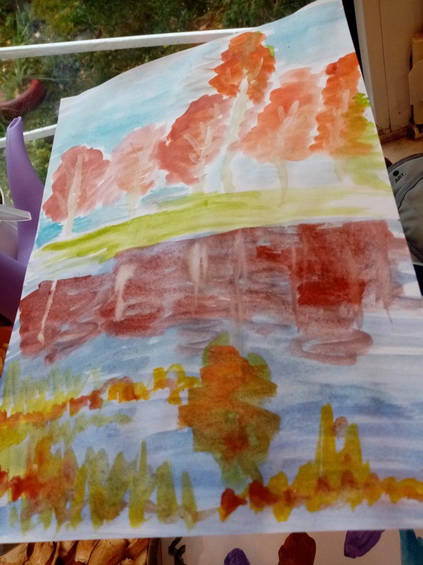 Отчёт по занятию Осенний пейзаж в Wachanga!