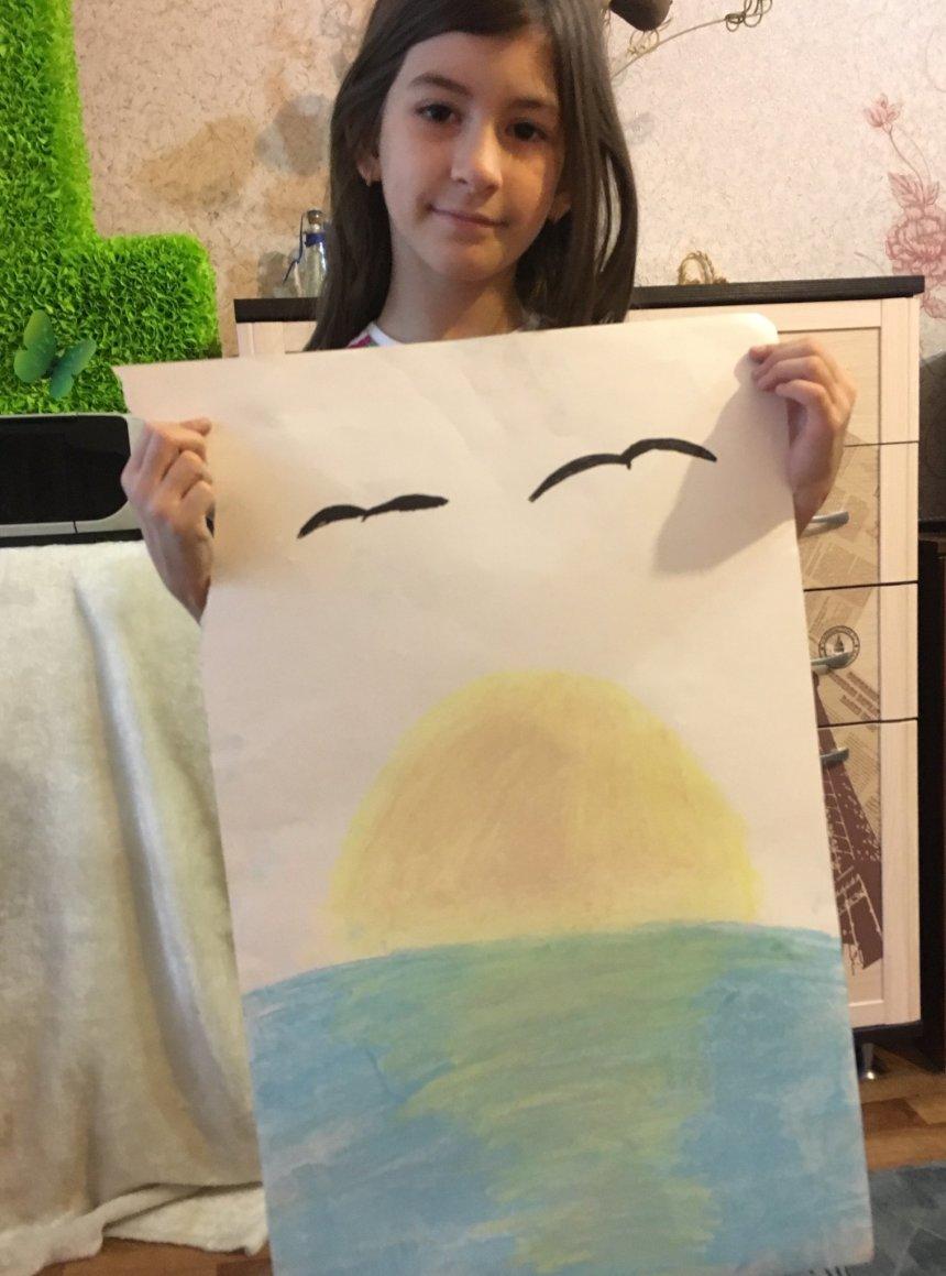 Отчёт по занятию Нарисуйте вместе с ребенком море с помощью пастели в Wachanga!