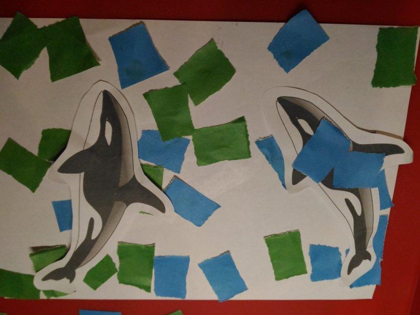 "Отчёт по занятию Сделайте вместе с ребенком аппликацию ""Акулы"" в Wachanga!"