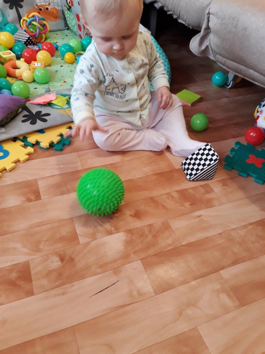 Отчёт по занятию Научите малыша катать мячик в Wachanga!