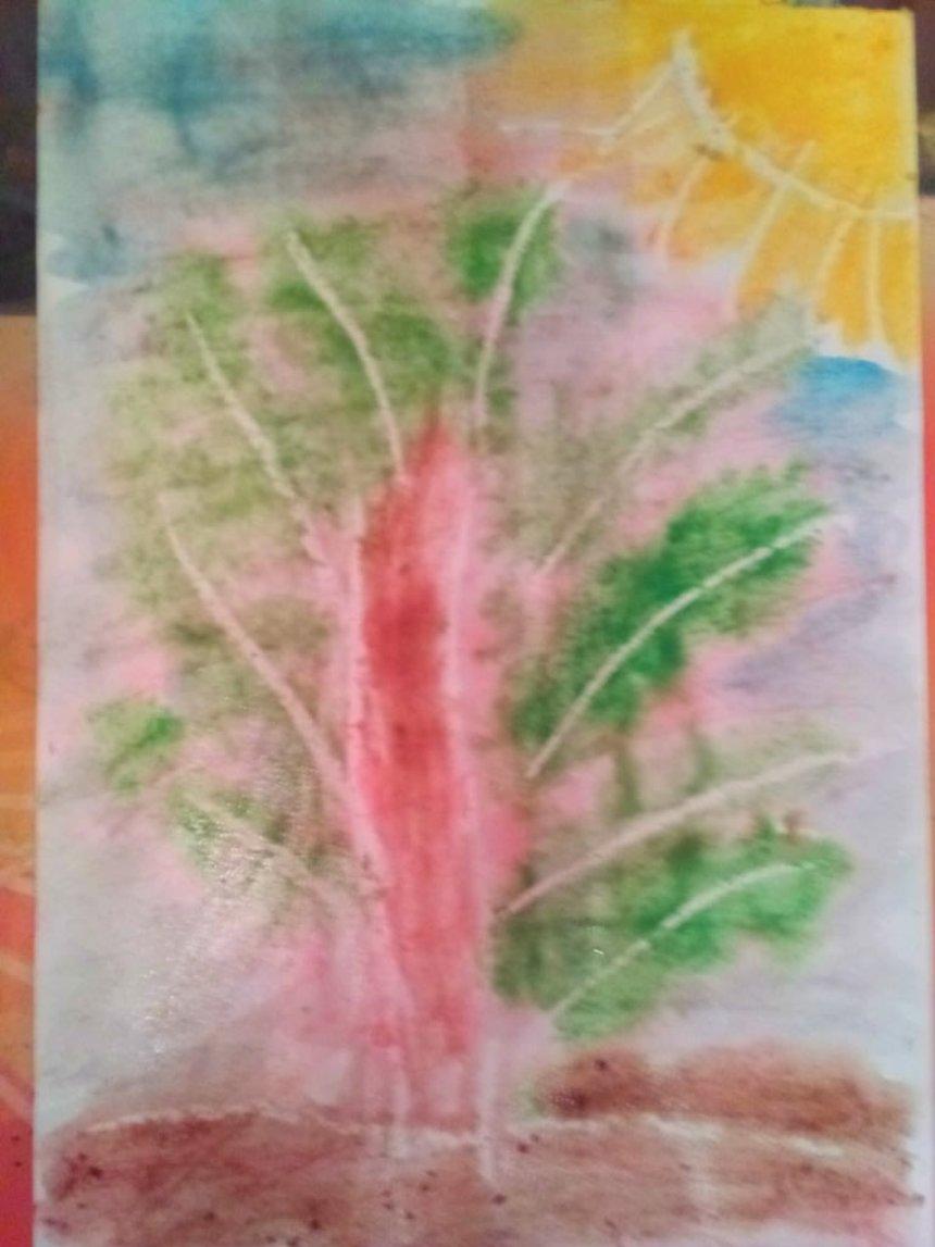 Отчёт по занятию Предложите ребёнку порисовать акварелью и свечой в Wachanga!