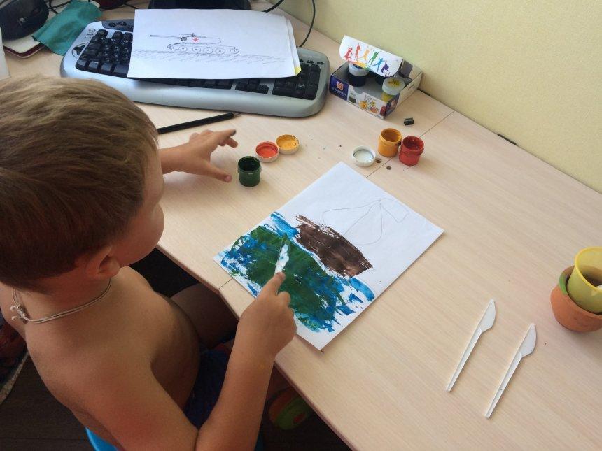 Отчёт по занятию Порисуйте с помощью десертного ножа! в Wachanga!