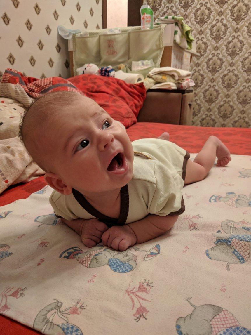 Отчёт по занятию Двигательное развитие ребенка в 2 месяца в Wachanga!