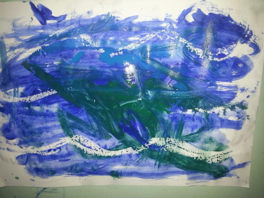 Отчёт по занятию Нарисуйте вместе с ребенком море в Wachanga!