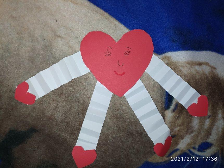 Отчёт по занятию Открытки с сердечками к 14 февраля в Wachanga!