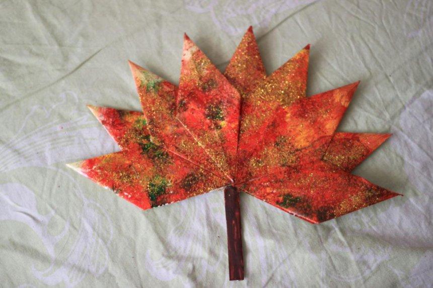 Отчёт по занятию Украсьте вместе с ребёнком комнату осенними листьями в Wachanga!