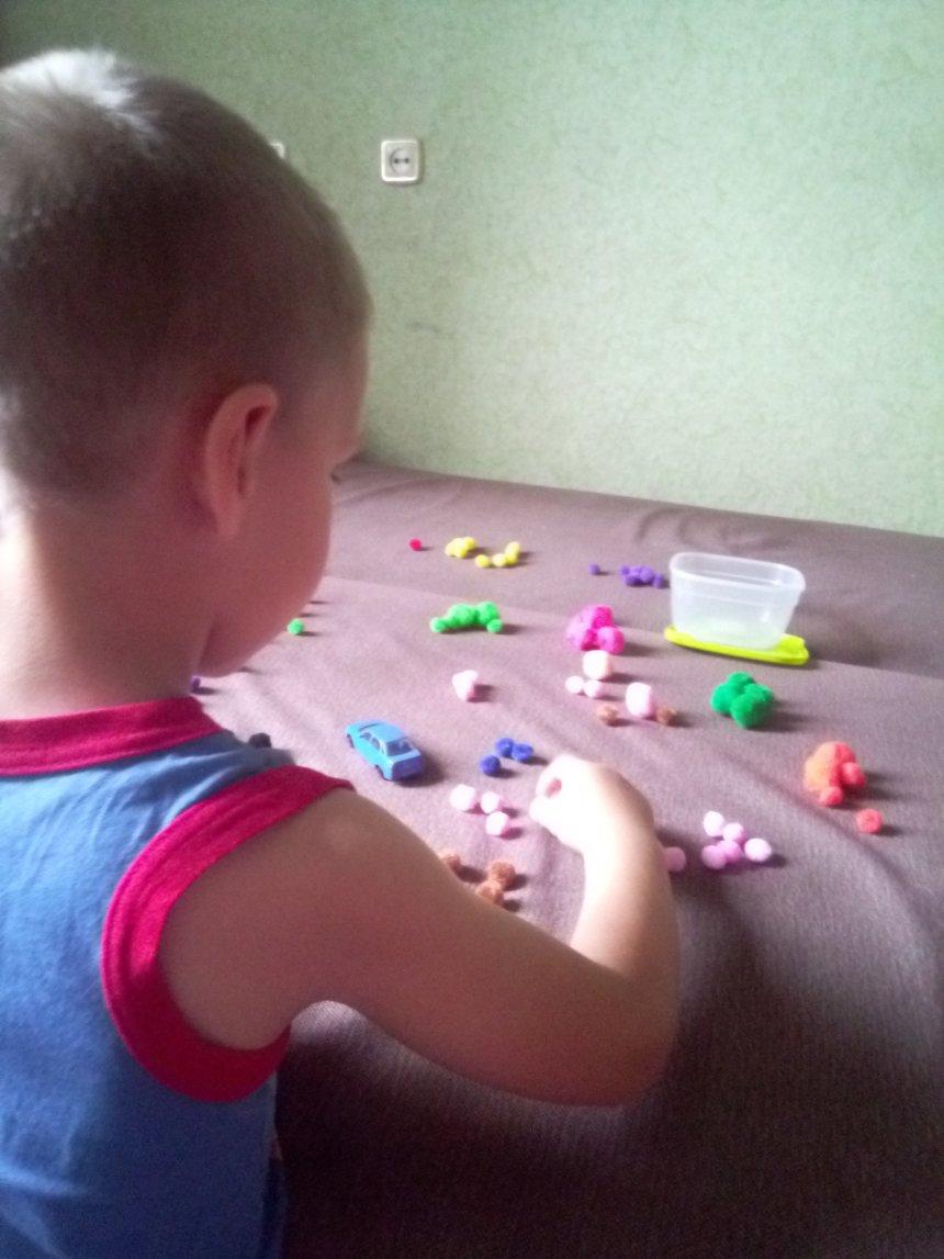 Отчёт по занятию Игры с разноцвеными маленькими помпонами в Wachanga!