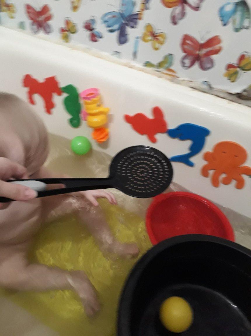 Отчёт по занятию Поиграйте в ванне с поварешкой  в Wachanga!