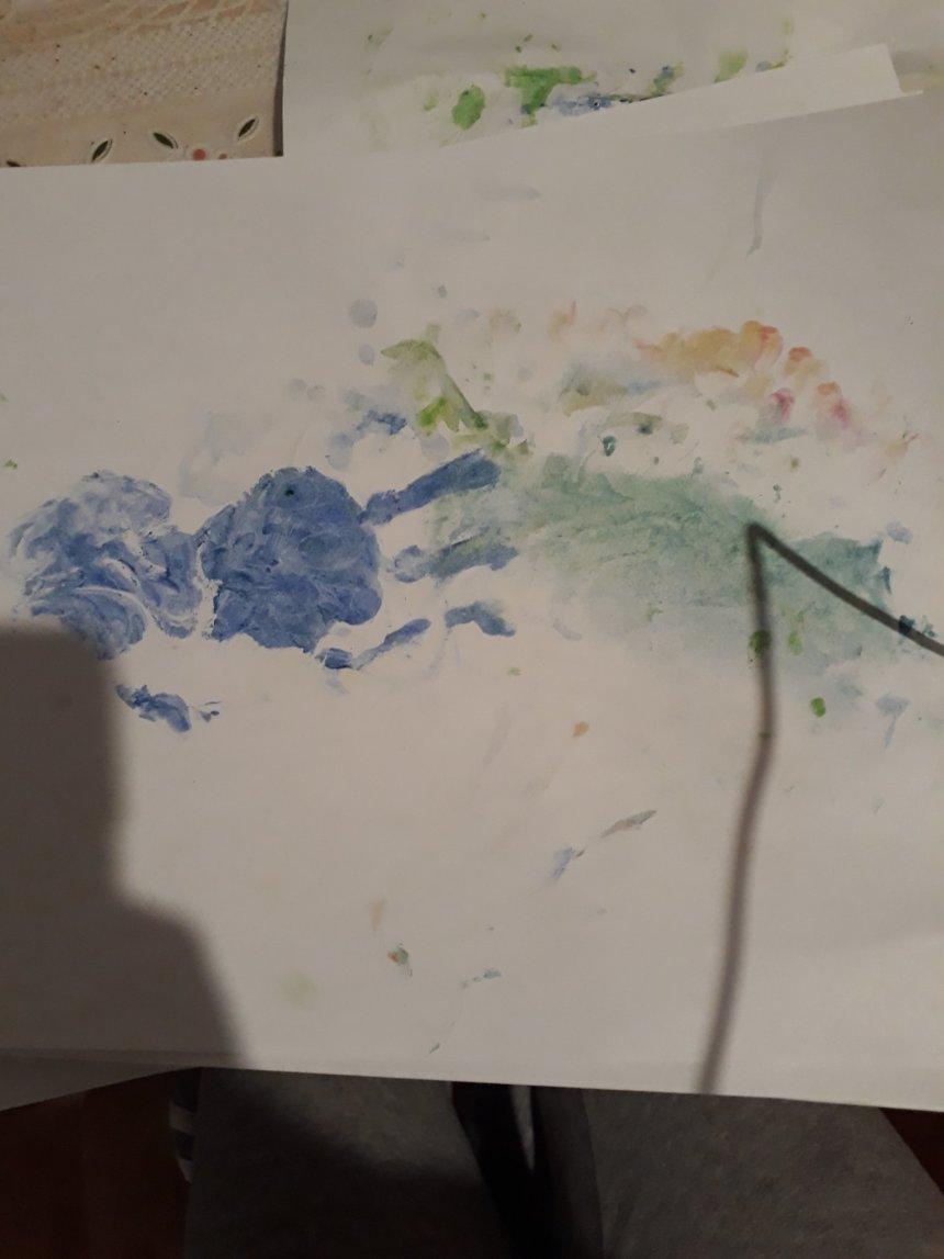 Отчёт по занятию Порисуйте пальчиковыми красками в Wachanga!