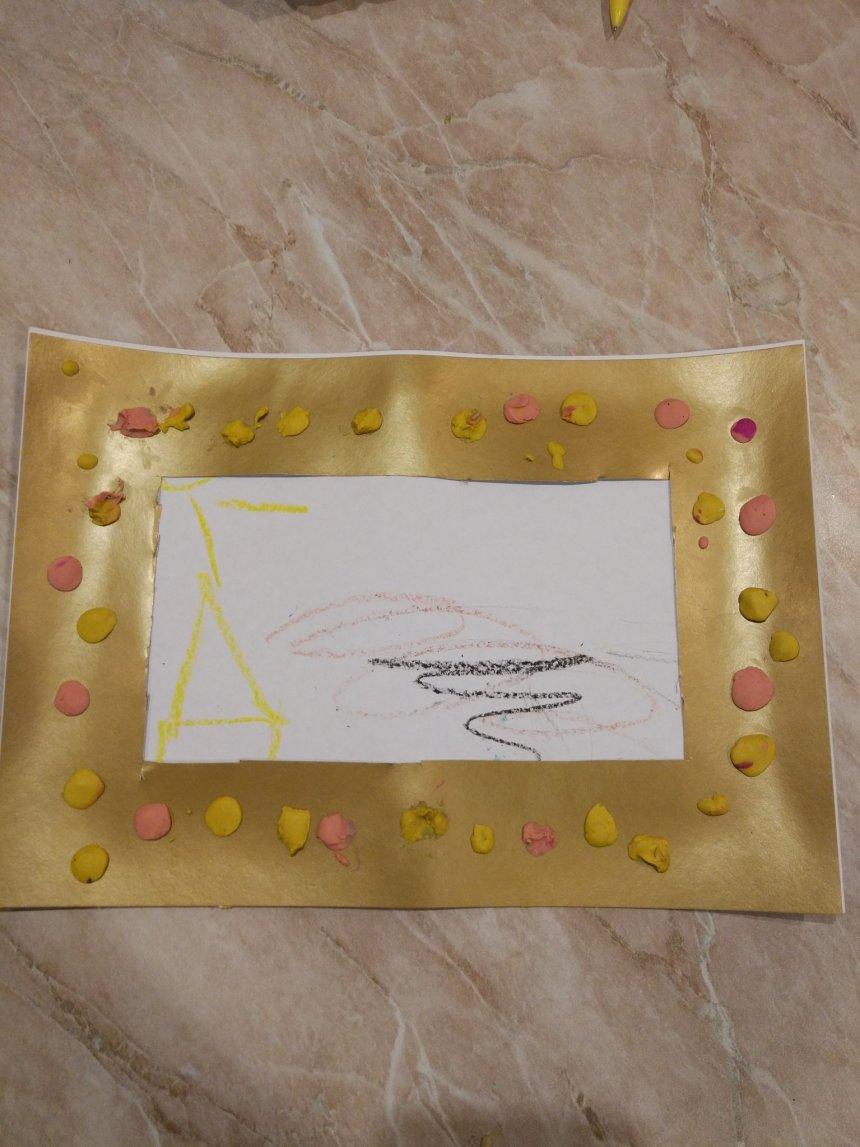 Отчёт по занятию Фоторамка из бумаги и пластилина в Wachanga!