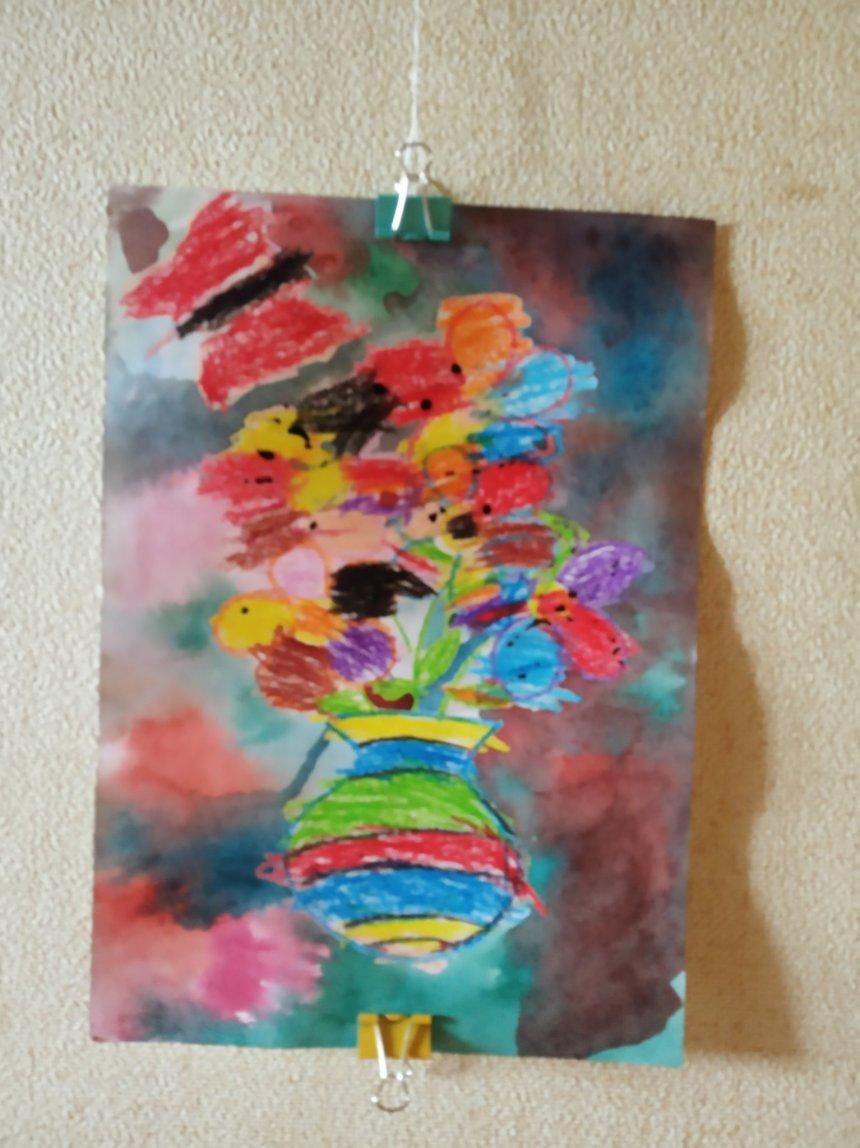 Отчёт по занятию Нарисуйте вазу с цветами в Wachanga!