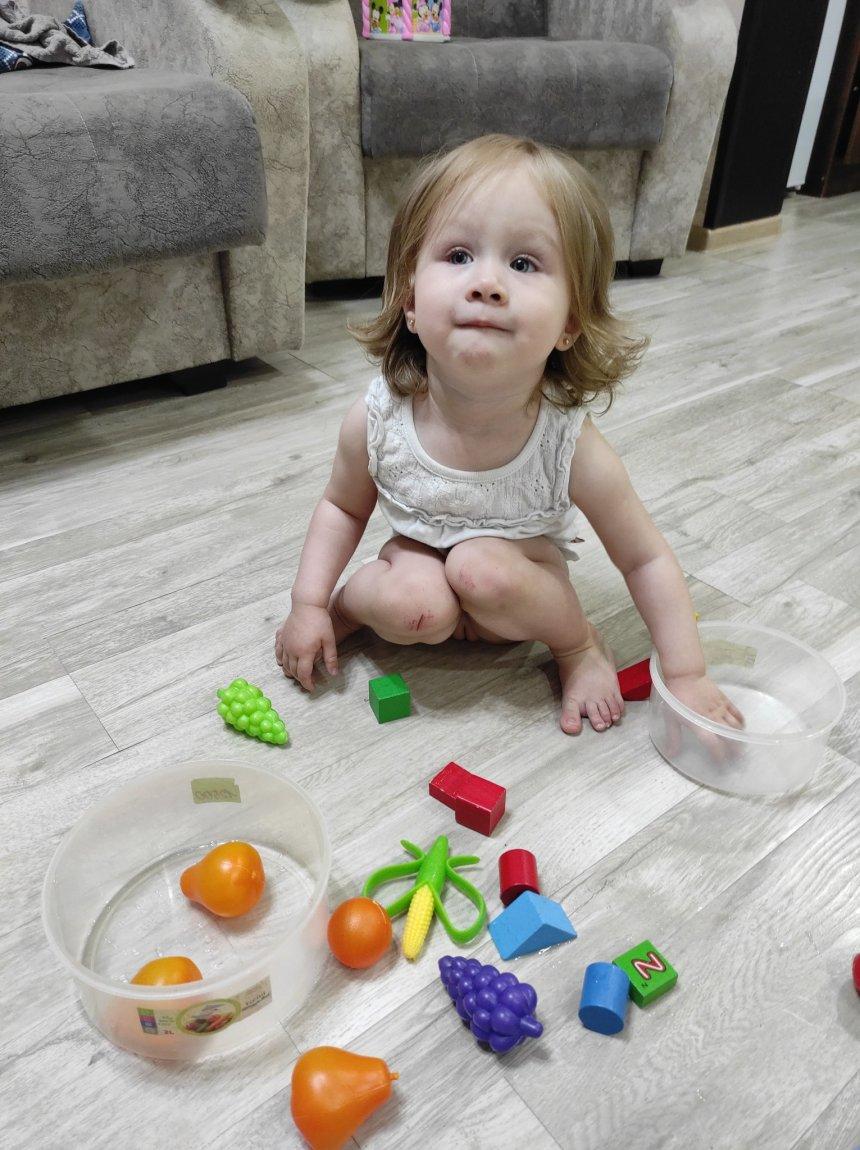 Отчёт по занятию Поиграйте с малышом в игру «Кубики и шарики» в Wachanga!