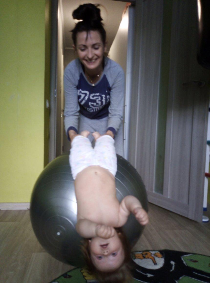 Отчёт по занятию Упражнения на фитболе для шестимесячного малыша в Wachanga!