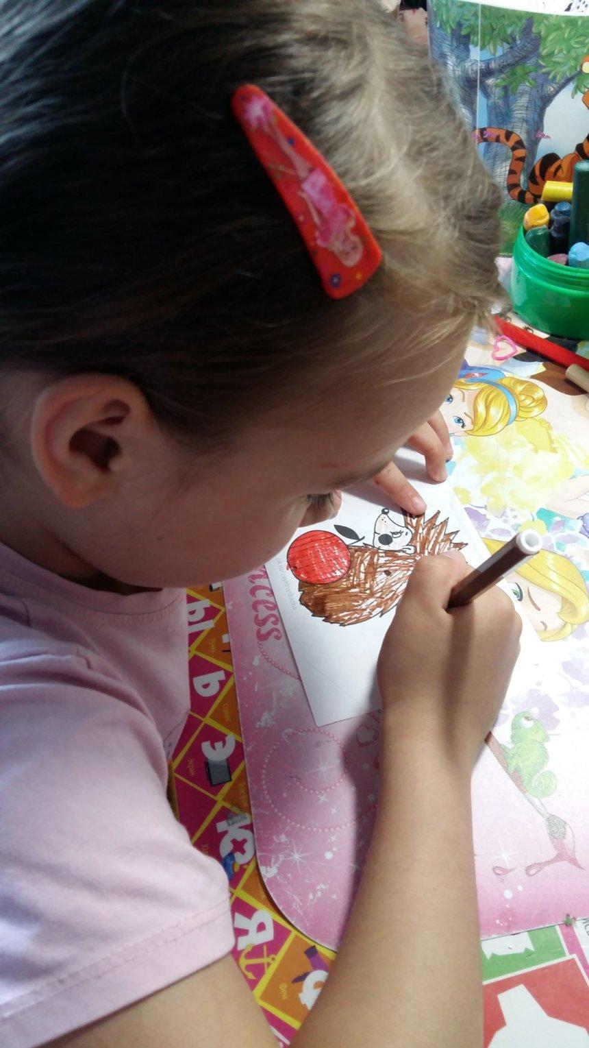 Отчёт по занятию Разукрашивание картинок методом штриховки в Wachanga!