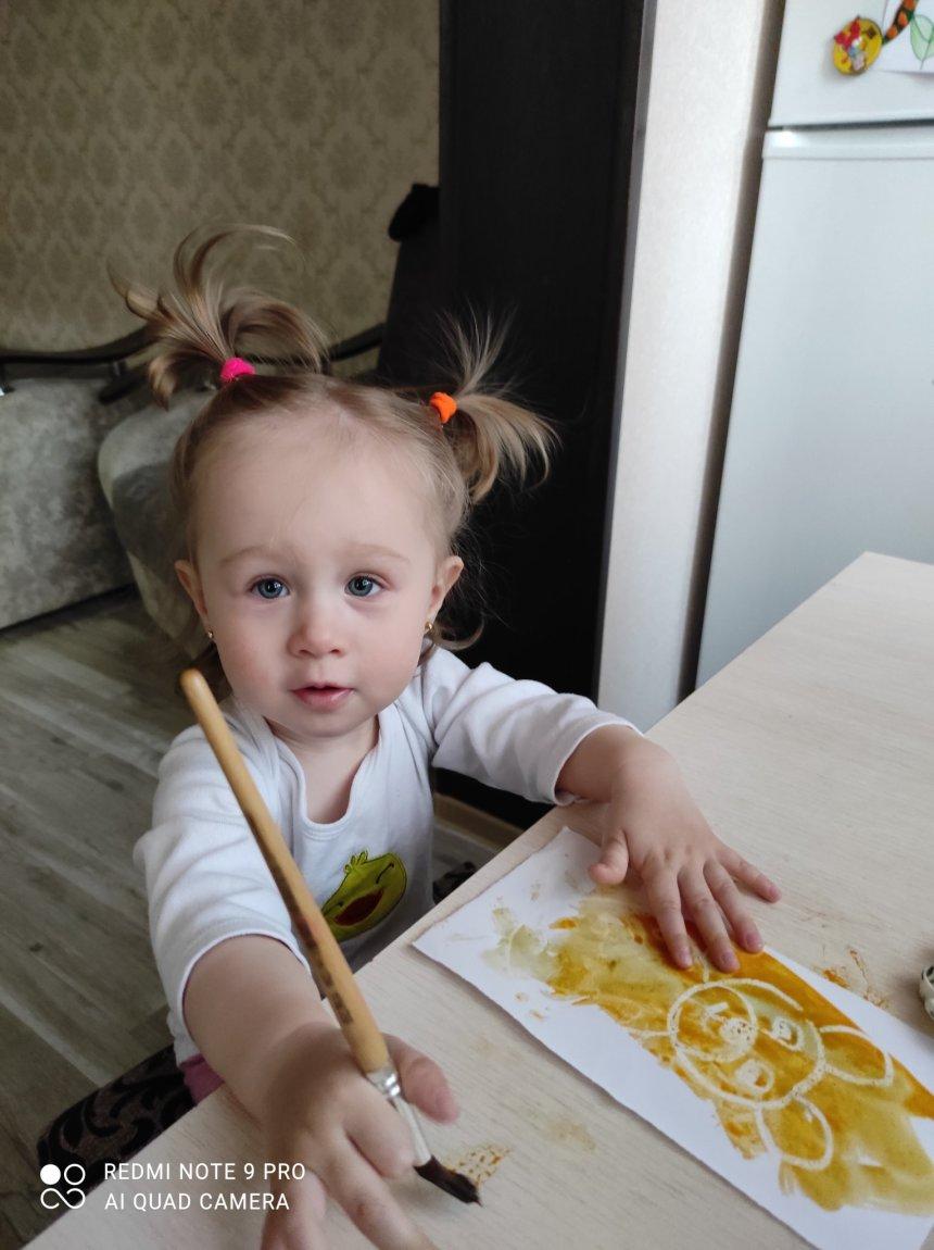 Отчёт по занятию Порисуйте вместе с малышом акварелью и свечой! в Wachanga!