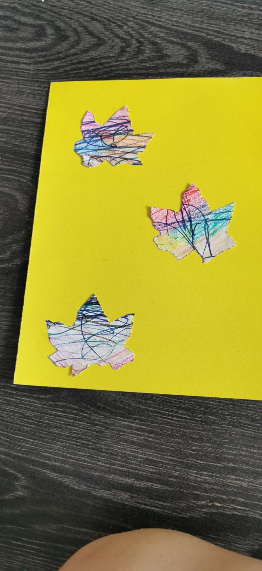 Отчёт по занятию Открытка с кленовым листочком в Wachanga!